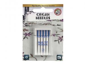 иглы Organ Embroidery Blue Tip 5/75 блистер
