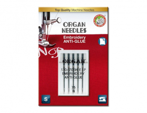 иглы Organ Embroidery Anti-Glue 5/75 блистер