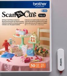 Набор шаблонов 3D Scan&Cut для поделок из бумаги CAUSB4