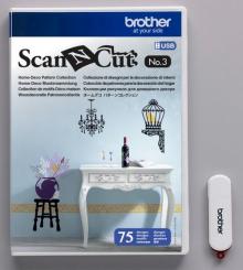 Коллекция рисунков Scan&Cut для домашнего декора CAUSB3