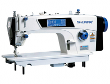 Прямострочная швейная машина челночного стежка Shunfa S8-D5 для лёгких, средних и тяжёлых тканей