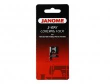 Лапка д/шнура Janome с 3-я направляющ H 200-345-006